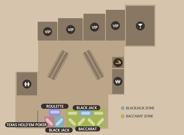 PARADISE CASINO BUSAN FLOOR MAP2 floor