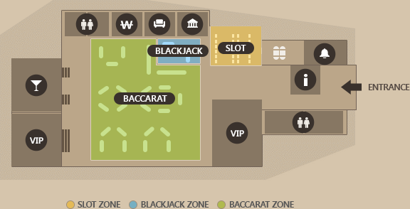 PARADISE CASINO JEJU LOTTE FLOOR MAP